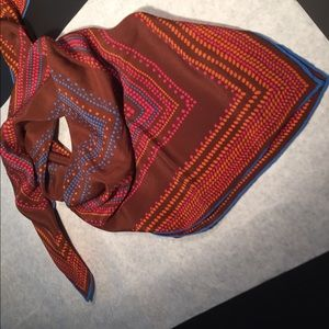 Adolfo silk scarf in brown